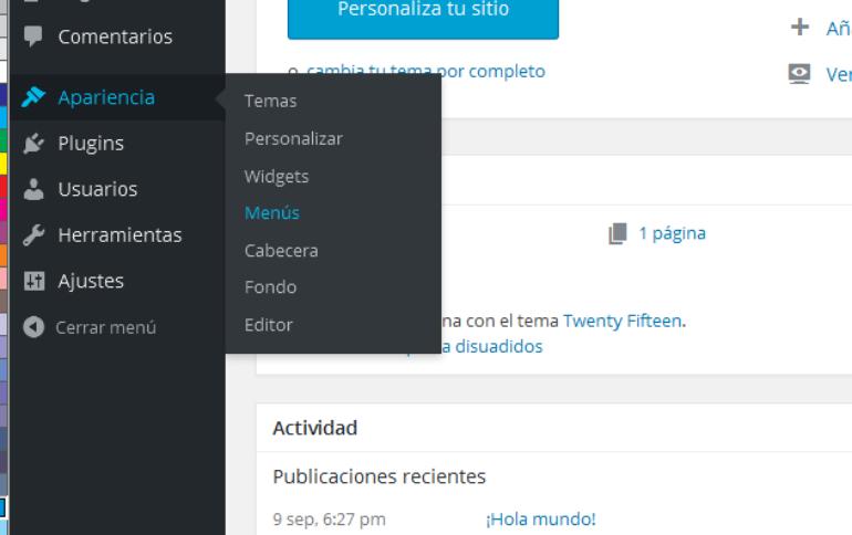 Como añadir estilo personalizados al menu en WordPress – Yo el ...